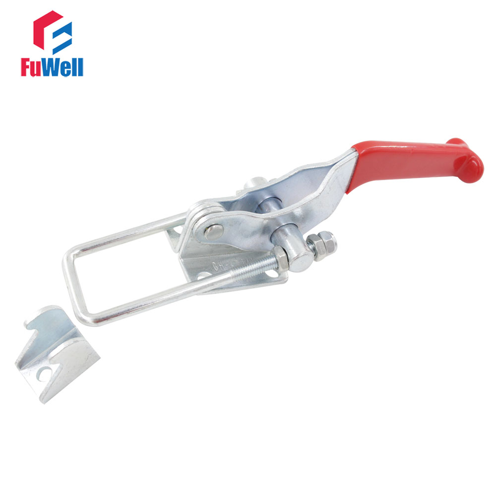 Toggle Clamp GH- 40341 Door Latch Type Quick Release Hand Tool Toggle Clamp 900KG Hold Capacity gh 12130 227kg capacity hand tool toggle clamp metal flanged base straight handle toggle clamping latch