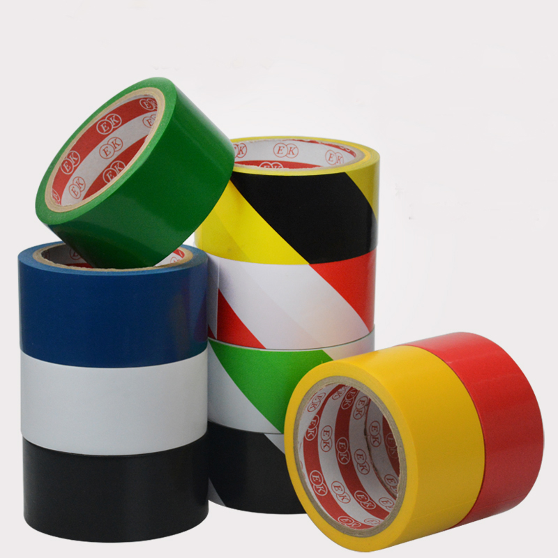 1)Blue Green Yellow Black White Red PVC 17M 33M Length 48mm Width Splicing Insulating Seal Warning Tape Floor Workshop warehouse cassette tape pattern pvc soft rubber passport case black white red