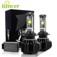ISincer Car LED Headlight Kit H4 H7 12V 24V 60W 8000LM Automobiles Front Light For BMW