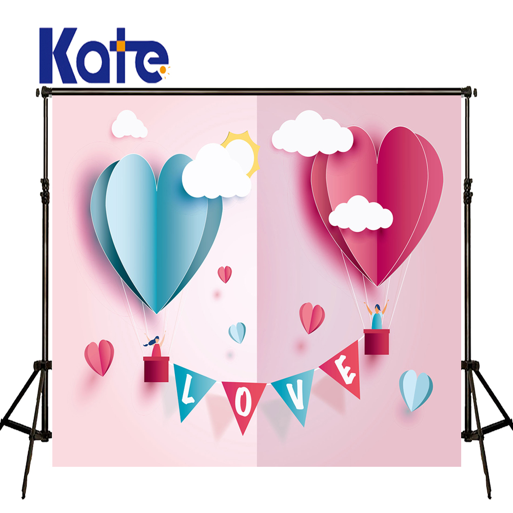 Kate Photography Backdrops Newborn Photo Background Pastel Pink Background Children Birthday Photos Cartoon cloud Background