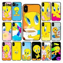 Yinuoda yellow lovely Tweety Bird Colorful Cute Phone Accessories Case for iPhone X XS MAX 6 6s 7 7plus 8 8Plus 5 5S SE XR(China)