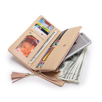 Long Clutch Women Wallet Leather Case Phone Bag For Iphone 6s 7 Plus Xiaomi Mi6 Redmi