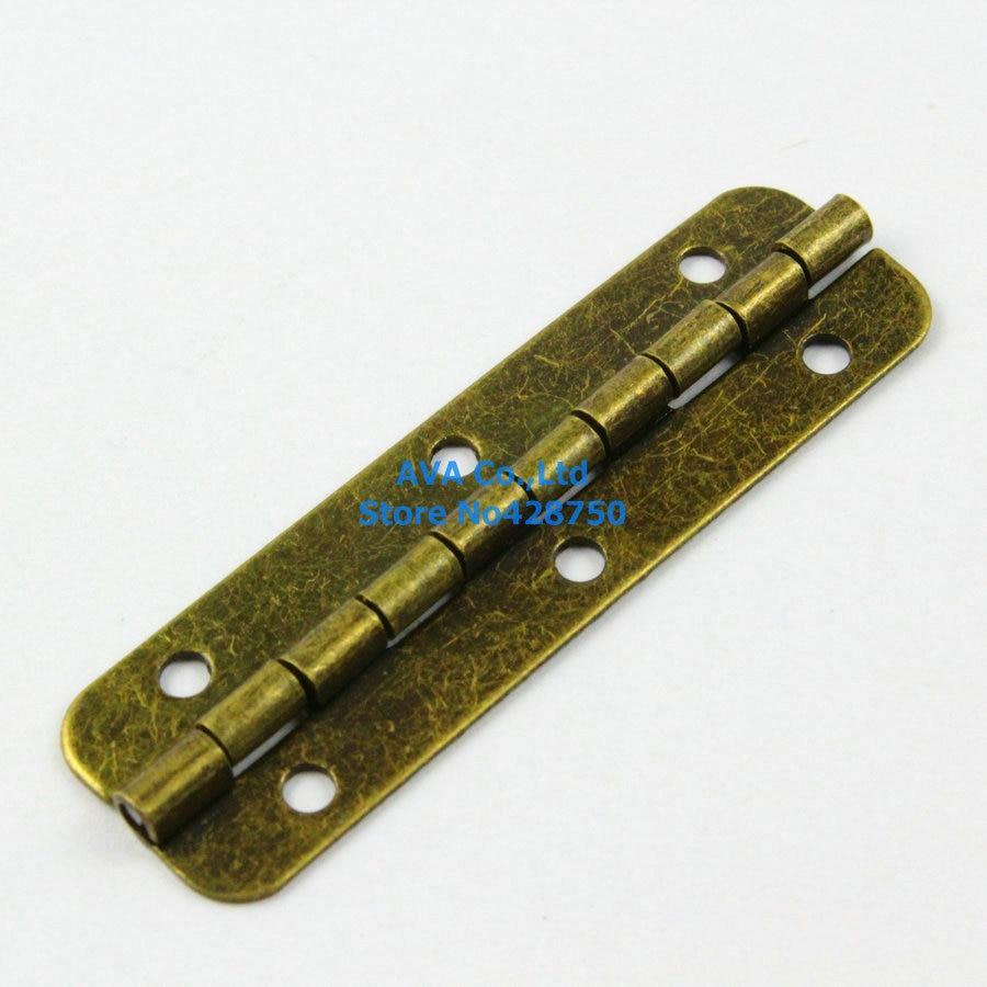 40 Pieces Antique Brass Jewelry Box Hinge Longe Hinge 50x15mm with Screws 40 antique brass jewelry box hinge small hinge 25x24mm with screws