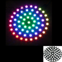 3pcslot 61 Bits 61X WS2812 5050 RGB LED Ring Lamp Light With Integrated Drivers FZ1583