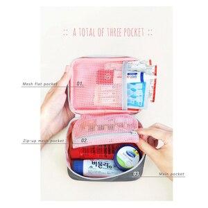Аксессуары для путешествий Функция портативный аптечка органайзеры аварийный препарат хлопковая ткань медицинская сумка чехол для таблет...