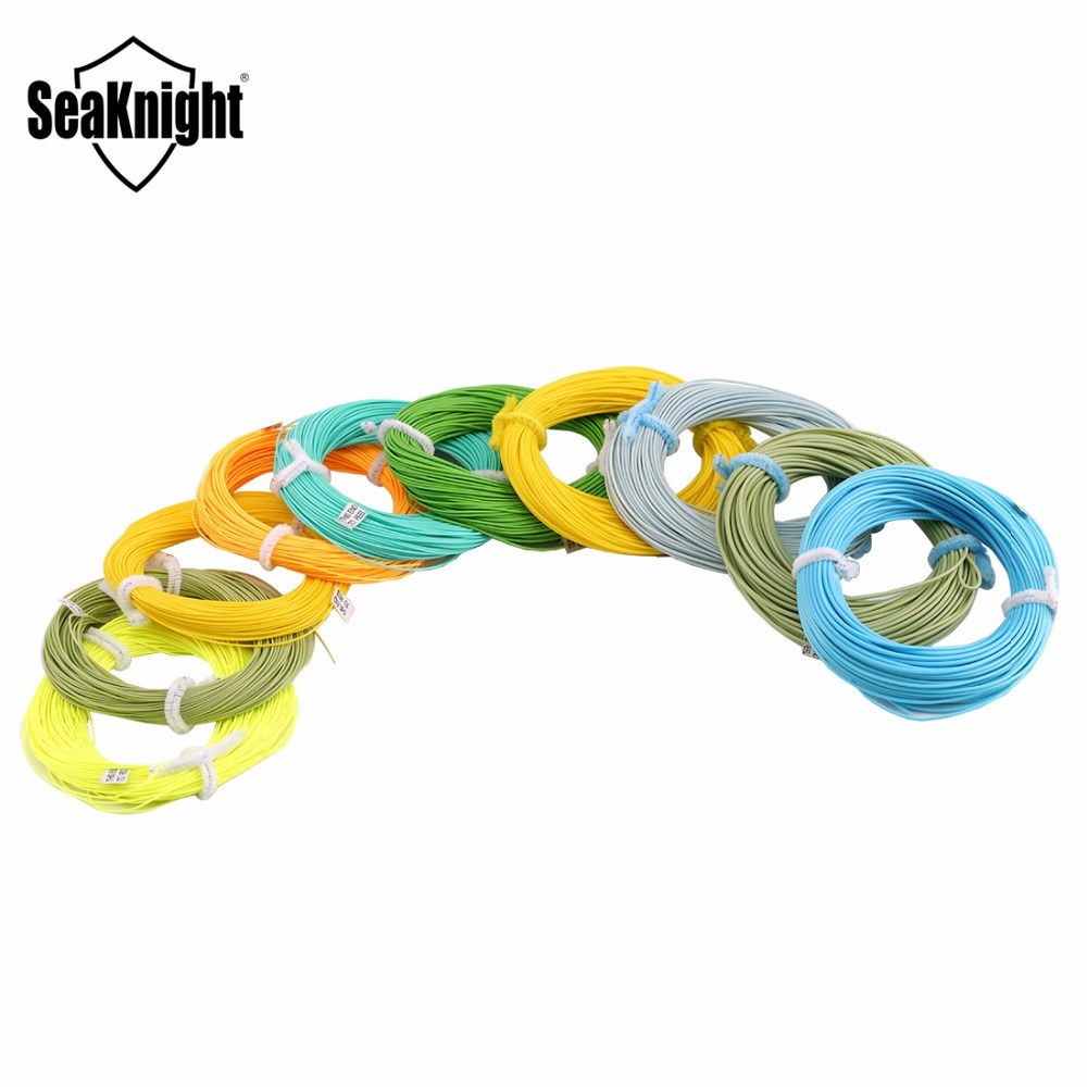 SeaKnight 100FT 30.5M WF 3/4/5/6/7/8/9/10/11/12F Fly Fishing Lines Weight Forward Floating Line 100FT Double Taper Fly Line