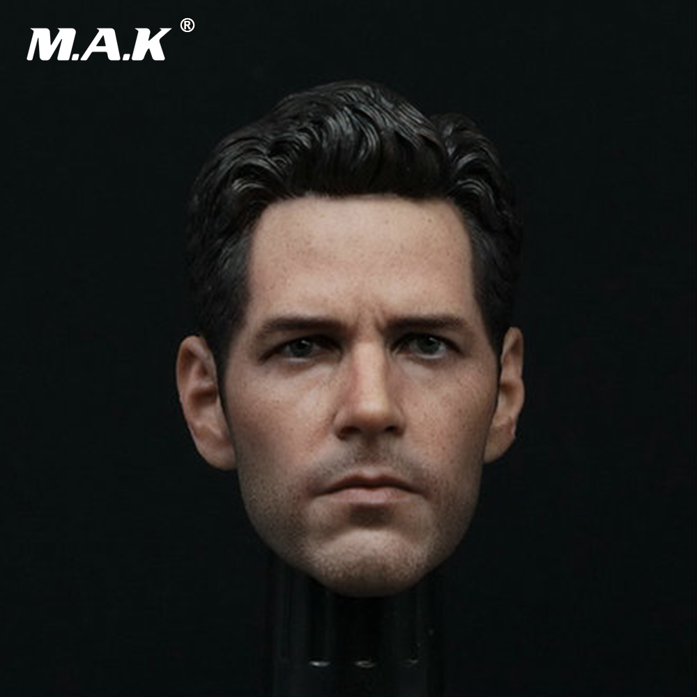 1/6 Scale Paul Rudd Head Sculpt Revengers Male Headplay Ant Man For 12 Inches Figure Body Accessories mnotht head sculpt 1 6 scale ant man paul rudd head sculpt for hot toys phicen male body in stock action