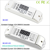 BC 831/BC 831 CC LED DMX512 Single color Decoder Controller PWM CC/CV single channel Dimmer driver For LED Lamp,DC12V 24V