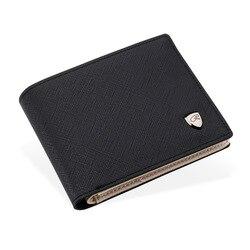2019 Wallet men business multi-card slots Pu Leather Coin Purses item Organizer big capacity Cuzdan Vallet Male Short Money Bag