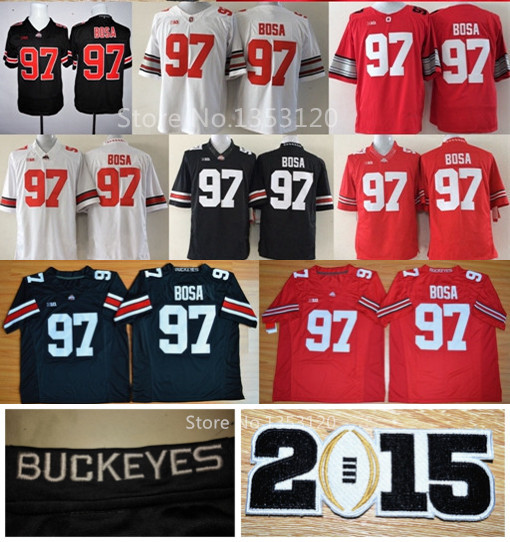 435a07c7719 New Ohio State Jerseys #97 Joey Bosa Jersey Black Braxton Miller Buckeyes  On Neck College Football Jerseys Embroidery logos