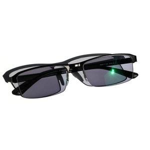 Image 3 - KJDCHD/New Quality Photochromic Myopia Presbyopia Mens Glasses Fashion Square half Rim Classic Reading Glasses for Men