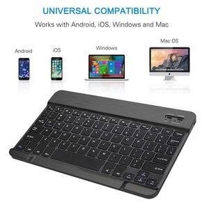 Image 2 - Funda para tablet con teclado Bluetooth para Samsung Galaxy Tab A 10,1 2019 SM T510 SM T515 T510 T515 teclado bluetooth español teclado inalambrico español
