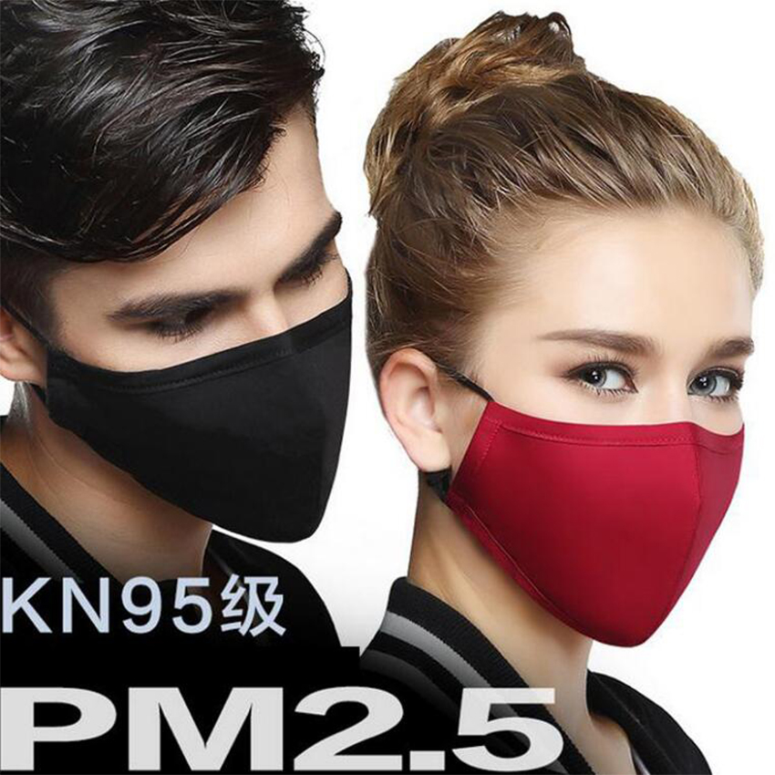 Moledodo 1 PC Black Cotton Mouth Mask Anti-Dust Cloth Mask Respirator with 6 Filter Cloth PM2.5 Anti Dust Mask Anti-fog D50