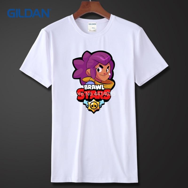f5b58e0ef04 Mens Designer T Shirts Sale 2018 Shelly Brawl Stars Men Tee Shirt Online  Summer Mens Black Round Neck Tshirts-in T-Shirts from Men s Clothing on ...