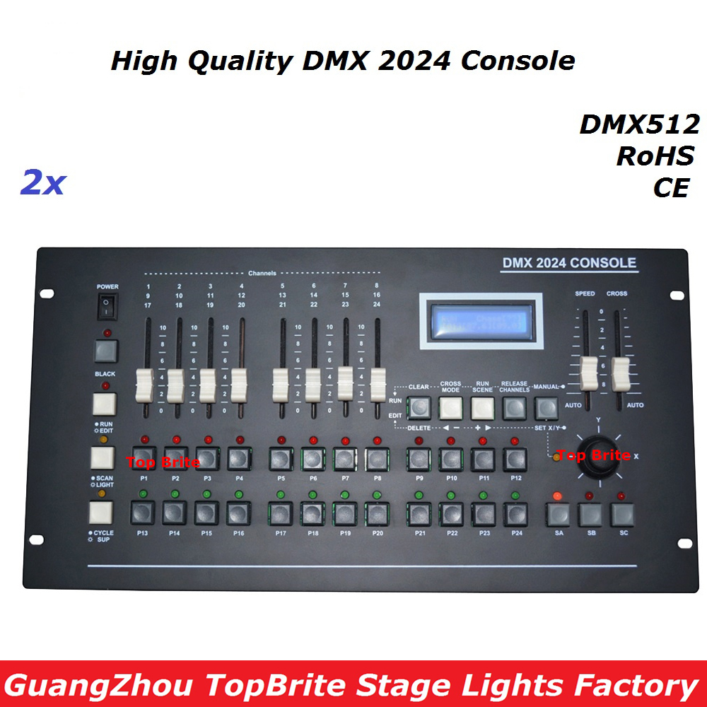 2Pcs/Lot New DMX 2024 Controller DMX 512 Stage Light Console DMX Lighting Controller 504 channels For Stage Dj Disco Laser Light lightme professional stage dj dmx stage light 192 channels dmx512 controller console dj light for disco ktv home party night