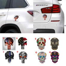 CDCOTN 2PCS Car Sticker Graffiti American Hoe Punisher Reflective Stickers Interior Decoration Accessories Styling Sell well