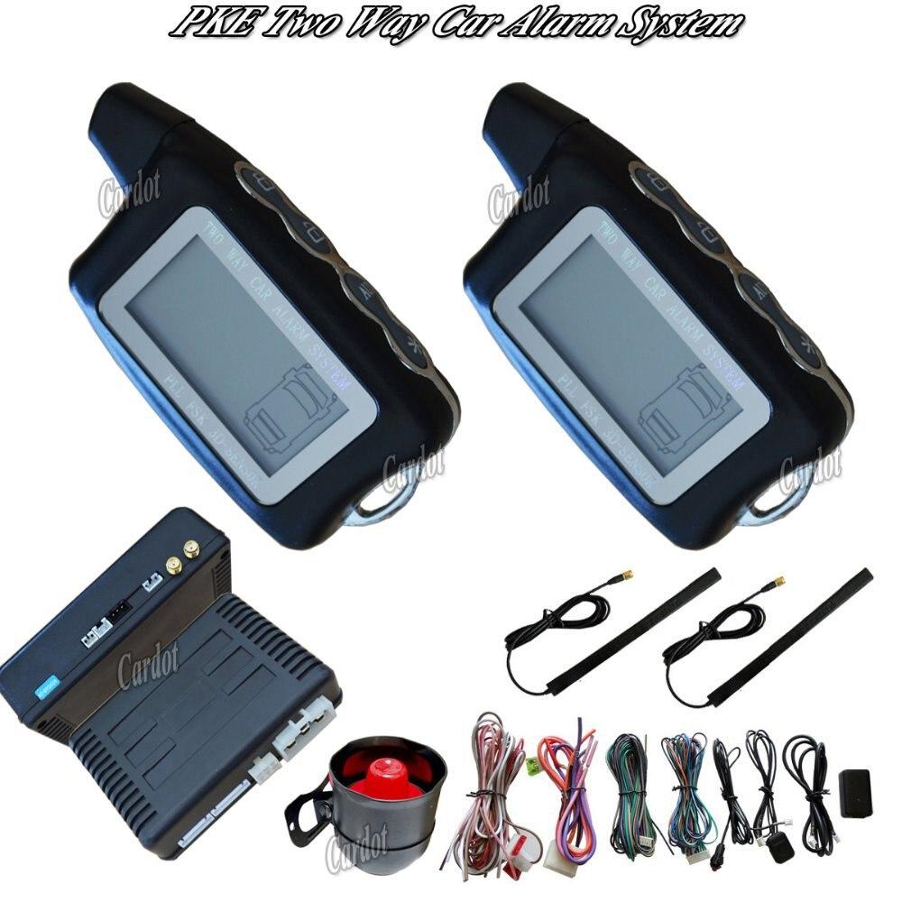Sistema di allarme auto passivo è con l'inizio a distanza di allarme di arresto temperatura di avvio di avvio del timer serratura auto o sbloccare dell'automobile di pke a distanza di allarme