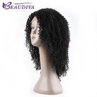 Beaudiva Синтетические волосы на кружеве человеческих волос парики для черный Для женщин предварительно сорвал бразильских волос Non Волосы remy
