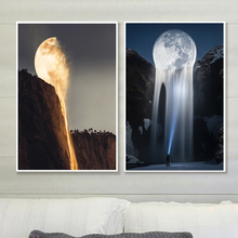 Surrealism Moon Nordic Posters And Prints Creativity Wall Art Canvas Painting Pictures For Living Room Decor