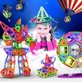 Venta! imán Mini Juego de Modelos y Juguete Del Edificio Plástico Ilumine Bloques de Construcción Magnética Técnica Ladrillos Niños Juguetes Educativos