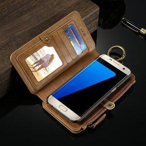 Image 4 - Floveme注3 4 5レトロ財布レザーケース三星銀河S6エッジプラスS7 iphone xs xr最大5s、se 6 6s 7 8プラスカバー