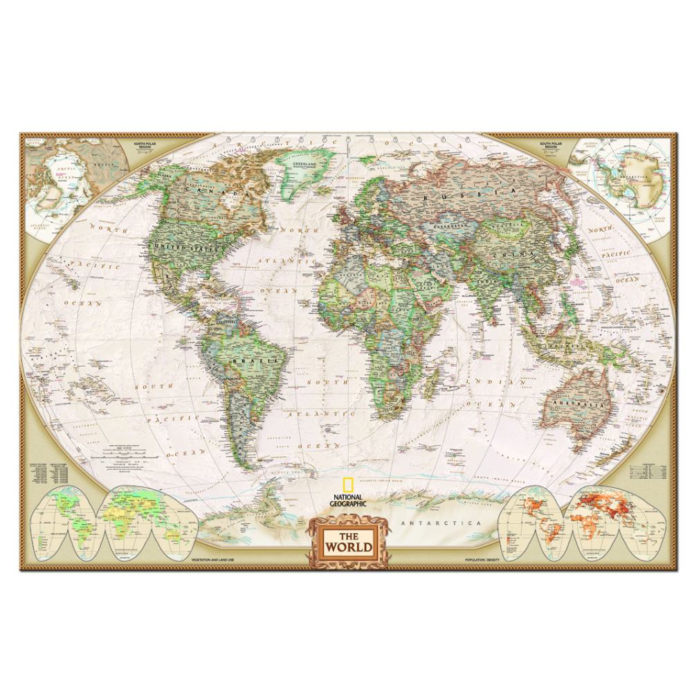 Hot Sale Home Decor Canvas One Piece World Map Mural Art Decorations ...