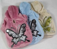Pet Supplies Fashion Winter Puppy Clothes Butterfly Pattern Dog Clothes Free Shipping