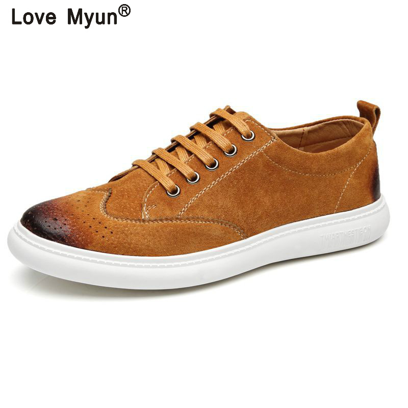 New Fashion Autumn/Winter   Suede   Men Shoes Men Canvas Shoes   Leather   Casual Breathable Shoes Flats Big Size Free Ship