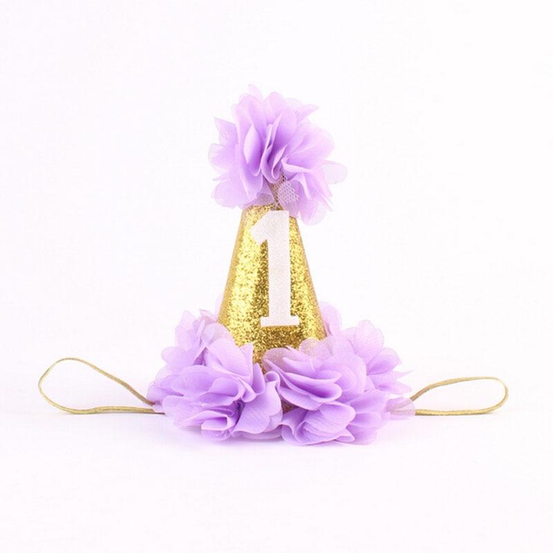 1 PC Kézzel készített újszülött csillogó korona virág Tiara - Ruházati kiegészítők - Fénykép 5