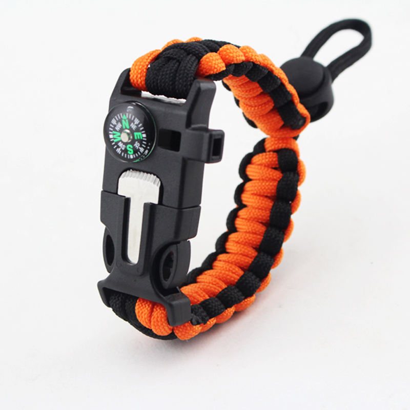 Military Emergency Paracord EDC Bracelet Multifunction Camping Field Survival Escape Tactics Wrist Strap Wilderness Survival