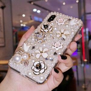 Image 2 - Iphone 11 Pro Max durumda lüks İnciler arı elmas yumuşak silikon akıllı telefon kılıfı IPhone 12 X XS MAX XR 6 6S 7 8 artı kapak