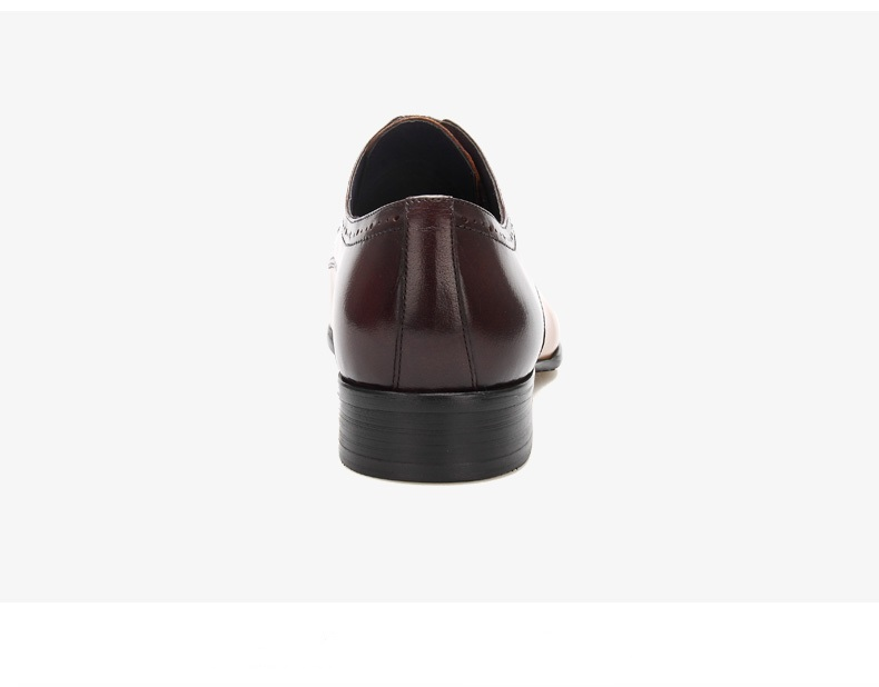 Fashion oxfords shoes mens wedding shoes genuine leather pointed toe dress shoes mens business shoes
