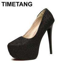 Sexy Fashion Women's Pumps High-Heeled Shoes Pointed Toe Platform Red Bottom Sapatos Shoes For Woman