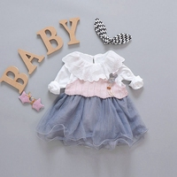 Autumn Baby Girls White Blouse Spaghetti Strap Rabbit Knitwear Sundress Kids Princess Party 2Pcs Tutu Mesh