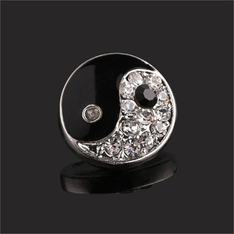 Rhinestone Stone Gossip Snap Buttons for Children Buttons fit 18mm/20mm DIY Snap Bracelet