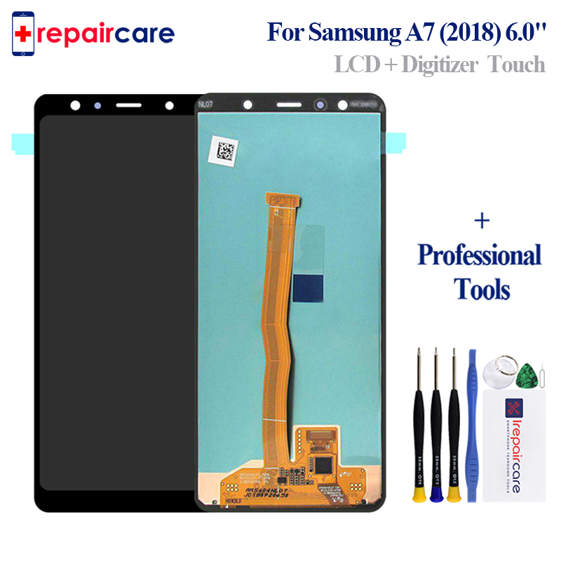 Original display LCD Screen for SAMSUNG Galaxy A7 2018 LCD A750 A7 2018 LCD A750F LCD