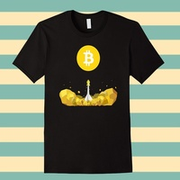 Cotton T Shirt Fashion Free Shipping Classic Bitcoin To The Moon T Shirt Crew Neck Men