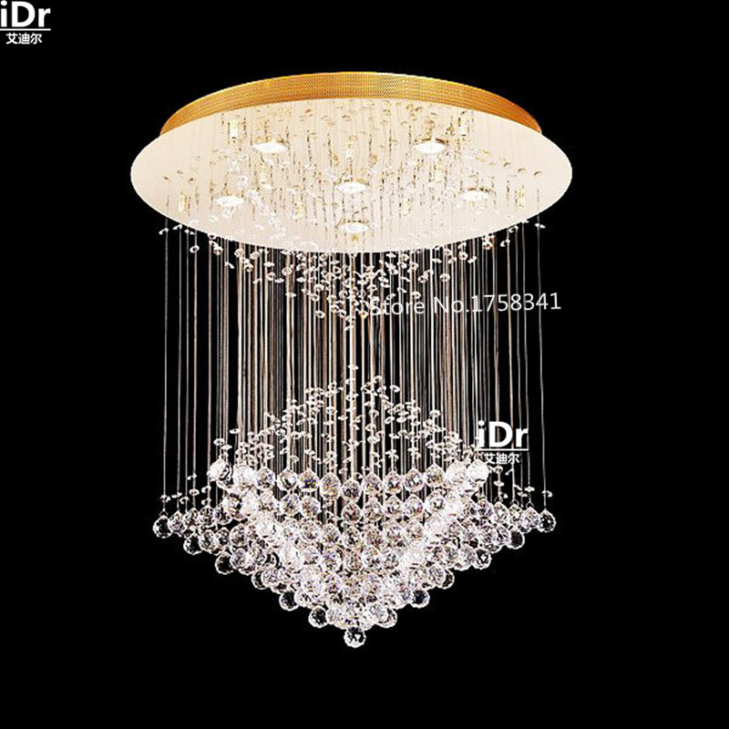 Stairs Light Modern Living Room Large Round Led Lights Hanging Wire Crystal Lamp Restaurant Upscale Atmosphere Chandeliers In From