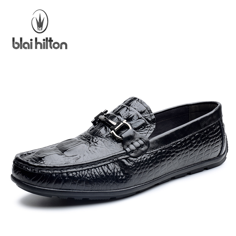 Blaibilton Low Top Classic Mens Shoes Casual 100% Luxury Genuine Leather Loafers Men Shoes Driving Fashion Boat Designer SD6222 branded men s penny loafes casual men s full grain leather emboss crocodile boat shoes slip on breathable moccasin driving shoes