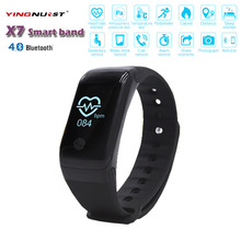 X7 Wristband Heart font b Health b font Monitor Bluetooth Smart Band Pedometer Temperature Altitude Sports
