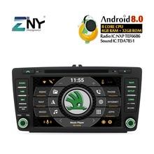 8 «ips Дисплей Android 8,0 GPS для автомобиля, стерео для Skoda Octavia 2 Octavia A5 йети автомобильное радио, dvd навигации Wi-Fi Бесплатная резервного копирования Камера