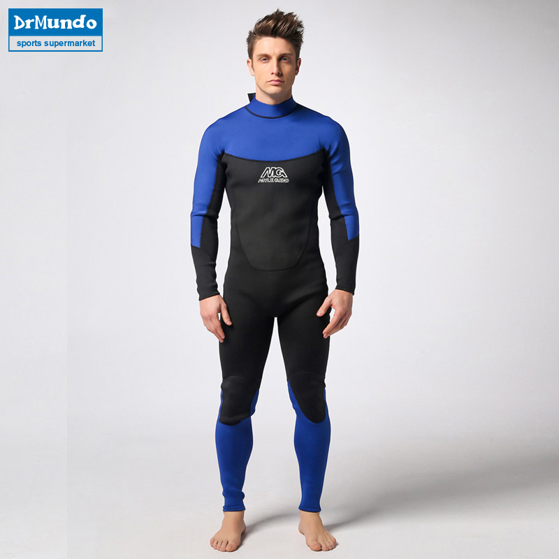 Spearfishing Piece Wetsuit thickened 3MM Neoprene Scuba Diving Suit Surfing Wetsuits winter swimming Triathlon Anti-UV clothing цена