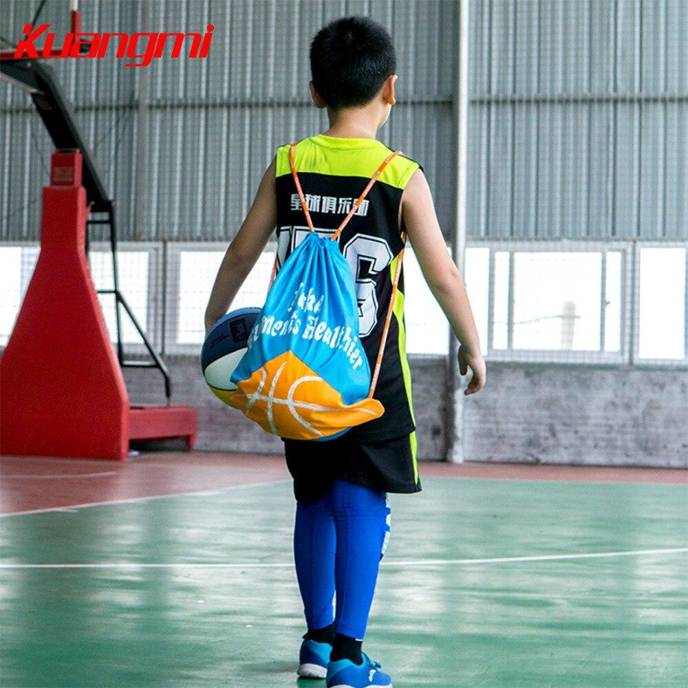 Купить с кэшбэком Kuangmi Children Basketball Backpack Adjustable Shoulder Strap Soccer Volleyball Folding Backpack Knapsack Kids Ball Storage Bag