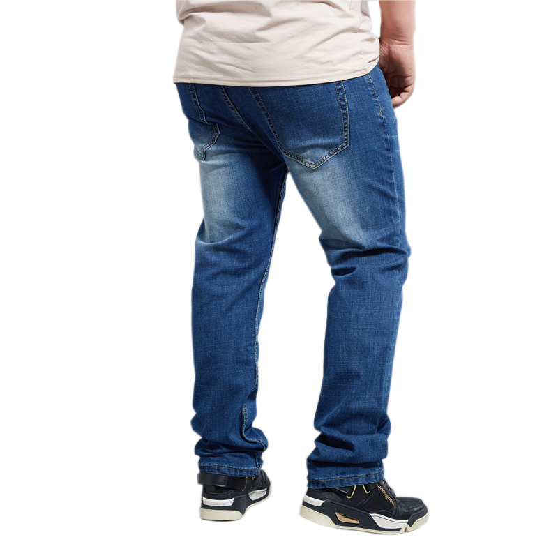Plus 8XL mens 2018 male jeans men long loose straight stretch denim pants trousers super extra large size big 28-48