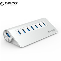 ORICO Good Quality High Speed Aluminum 7 Ports USB 3 0 HUB With Vl812 Chipset For