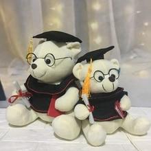 23cm/28cm/35cm Lovely Dr. Bear Plush Animals Toys Stuffed Plush Teddy Bear Graduation Gift Kids Girls Toys