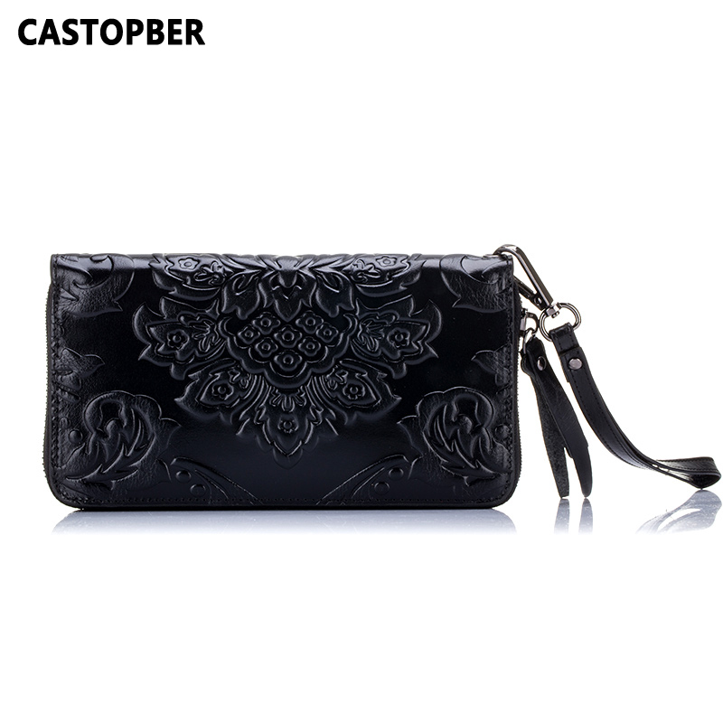 European And American Style Women Vintage Retro Wallets Long Zipper Purse Day Clutch Cow Genuine Leather For Female Wallet Bag jialante python skin women clutch bag lady s new women bag european and american snake leather handbag female purse