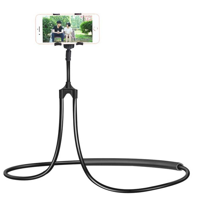 Flexible Mobile Phone Holder Hanging Neck Lazy Necklace Bracket Bed 360 Degree Smartphone Holder Stand