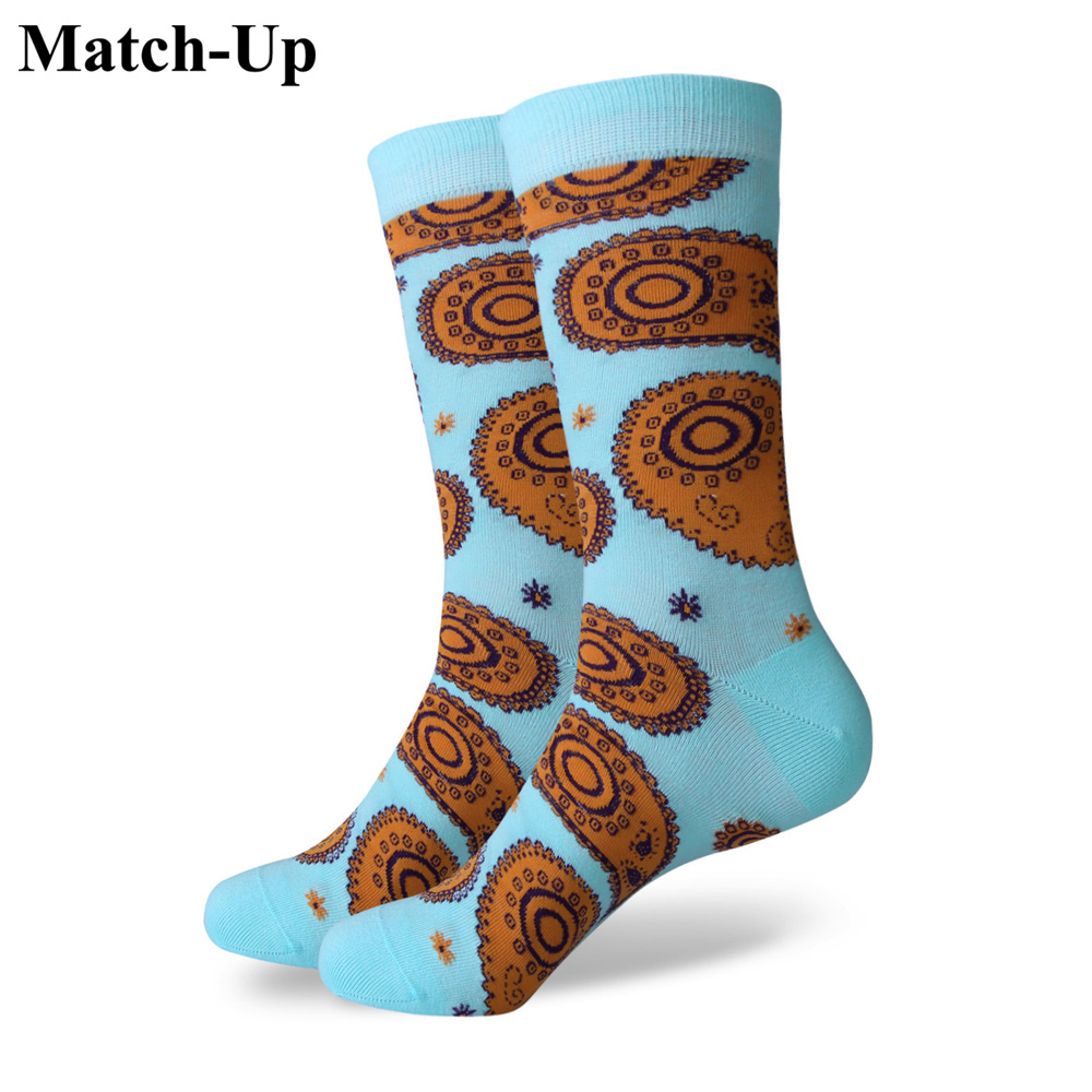 Match Up Socks New styles men colorful combed cotton socks Totems US size 7 5 12