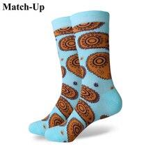 Матч-Носки для девочек новые стили мужчины Красочные чёсаный хлопок Носки тотемы американский размер (7.5-12)